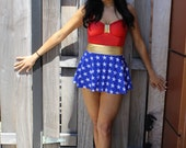 Wonder Women Swimsuit WITH Skirt attached