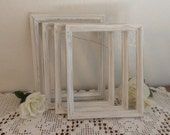 Distressed White Frame Rustic 8 x 10 Shabby Chic Wedding Decor Upcycled Vintage Pick Your Own Photo Picture Decoration Paris Home Decor