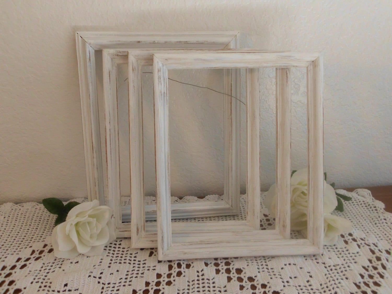 distressed white frame rustic 8 x 10 shabby chic wedding decor. Black Bedroom Furniture Sets. Home Design Ideas