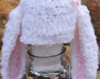 Crochet Floppy Easter Bunny Hat