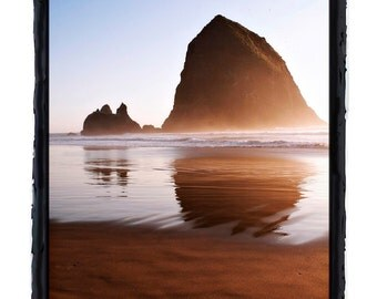 Sunrise at Haystack Rock Near Cannon Beach Oregon Ocean Scene Fine Art Print