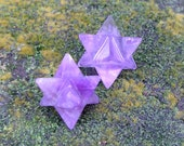 Amethyst Merkaba Star