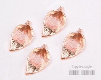 P225-02-GRG// 14k Rose Gold Plated Calla Flower Beads Cap, 4Pc