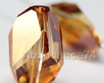 2 pcs Swarovski Elements - Swarovski Crystal 5650 16mm CUBIST - COPPER