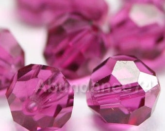 Swarovski Elements Crystal Beads 5000 Round Ball Beads FUCHSIA - Available in 4mm ,6mm ,8mm and 10mm