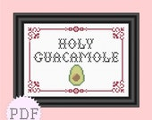 PDF Counted Cross Stitch Pattern Holy Guacamole INSTANT DOWNLOAD