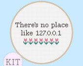 Geeky Cross Stitch KIT There's No Place Like Home