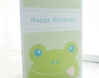 Personalised Frog Children's Birthday Card
