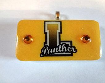 Latta Panthers School Pride Domino Pendant   Fund raiser Jewelry School Spirit  item 1966