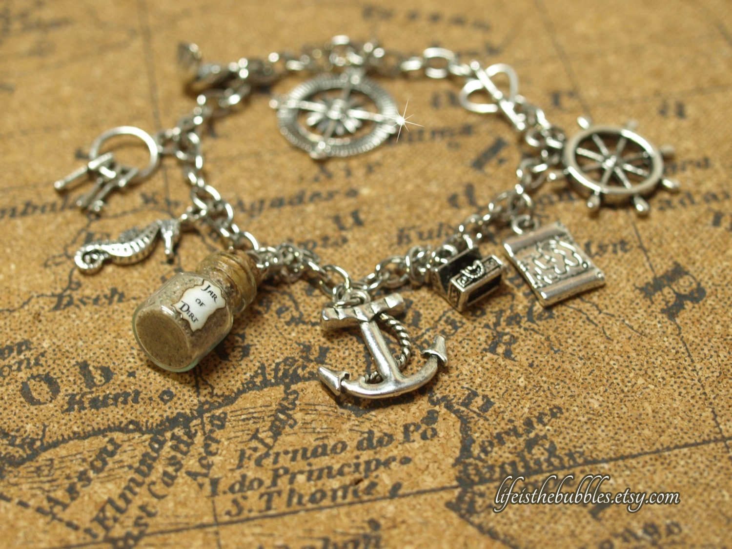 pirates of the caribbean charm bracelet pirate jewelry