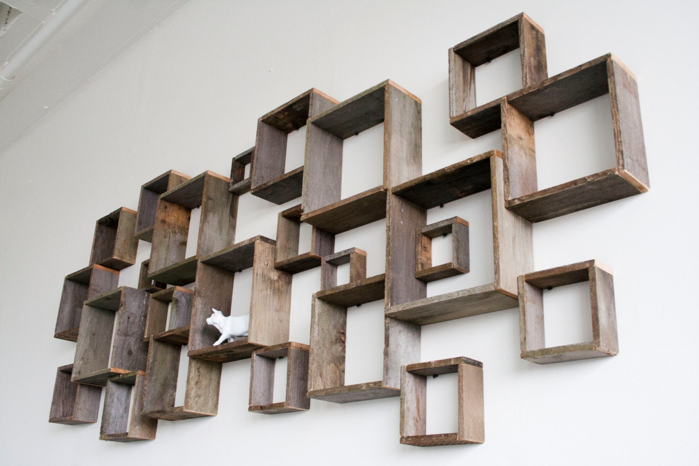 shadow box wall installation barn wood shelves. Black Bedroom Furniture Sets. Home Design Ideas