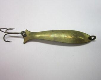 Vintage Mooselook Wobbler Fishing Lure Rare Gold 1.6 oz