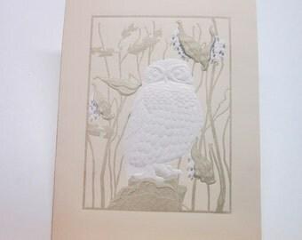 Owl Greeting Card Island Design Bar Harbor Milk Weed