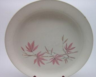 Salem China Pink Bamboo Pattern 9 inch Dinner Plate