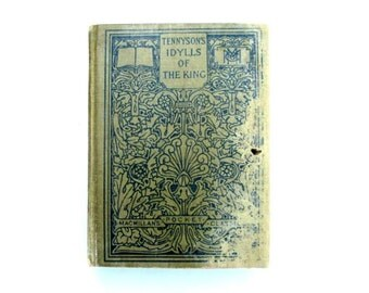 Antique Book Tennyson Classic Hardcover Books 1912
