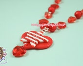 Cherry Red Stars and Hearts Necklace