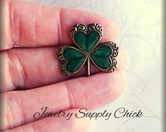 Enameled Shamrock (x2)