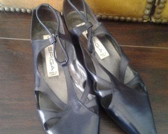 Via Spiga navy blue shoes