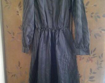 Pin stripe 80s dress