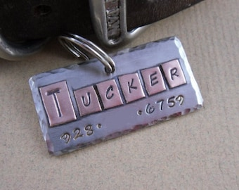 Dog Tag - Mixed Metals - Nickel Silver and Copper Pet ID Tag