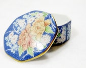 Vintage collectibles,vintage Takahashi San Francisco octagonal trinket box, vintage box, porcelain trinket box