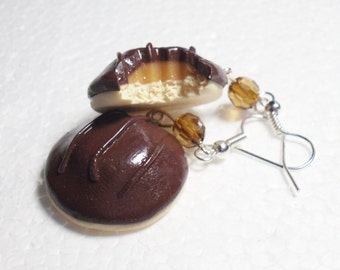 Jaffa Cake Earrings. Polymer Clay