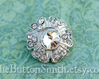 Rhinestone Buttons -Erin- (23mm) RS-025 - 5 piece set