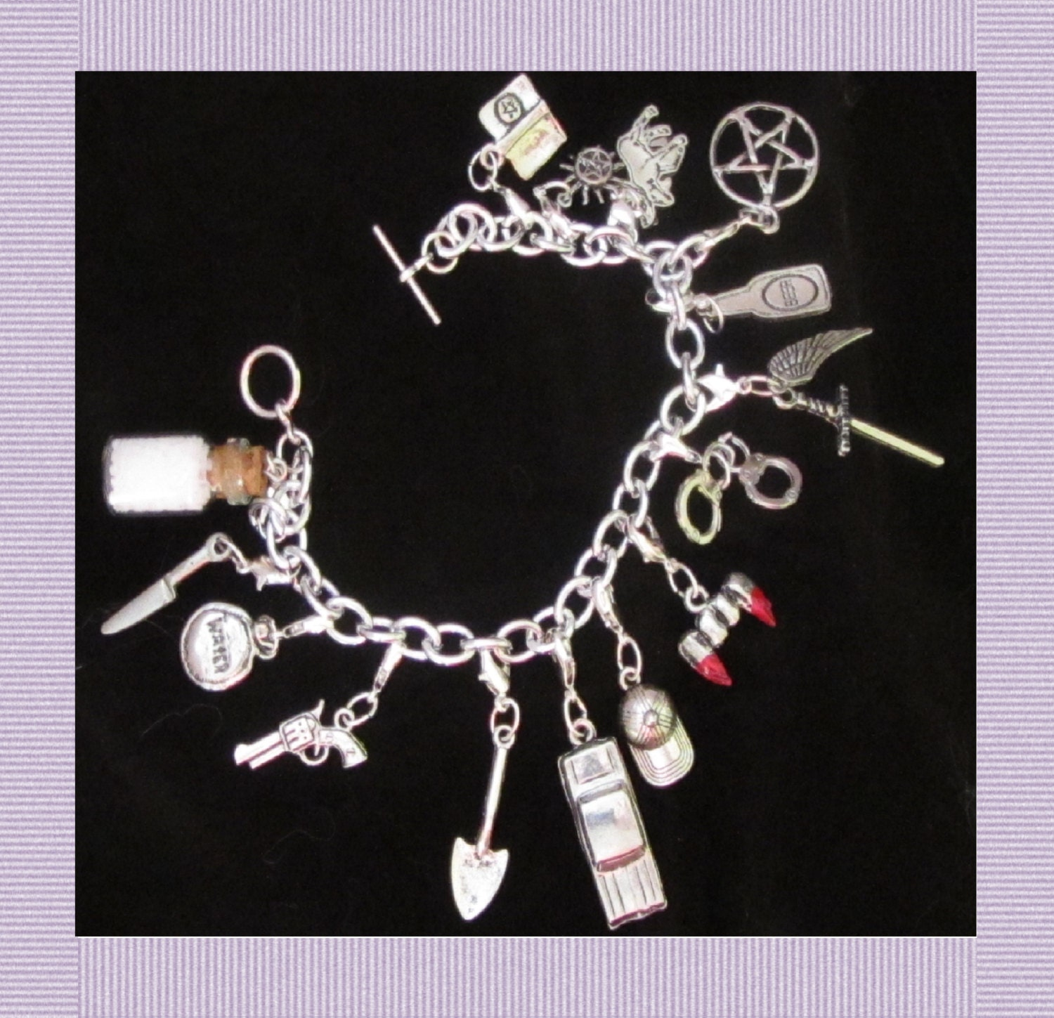 supernatural inspired charm bracelet