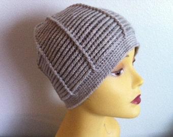 Unisex Stone Beanie Hat, Crochet Unisex Stone Beanie Hat, USA seller
