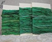 Sari Silk Ribbon - Kelly  Green