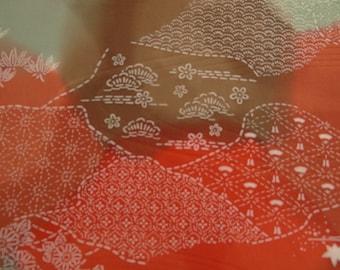 Choc mint and jaffa in Japanese silk.