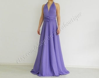 lavender wedding Evening Convertible dress Infinity Wrap Violet Chameleon Maxi Dress bridesmaid plus size maternity
