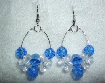 Memory Wire Earrings - Hoop Earrings Available in Red, Blue or Pink *On Sale*