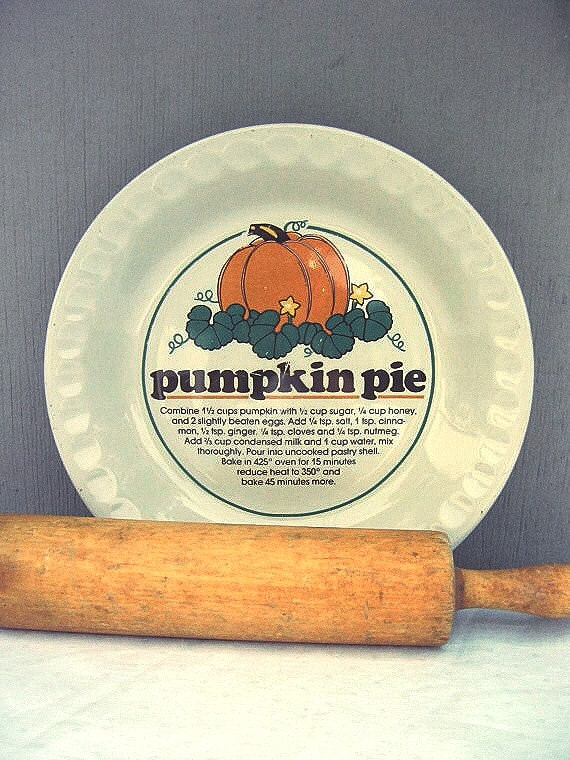 Pumpkin Pie Dish Pie Plate With Recipe Ceramic Pie Pan