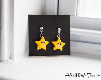 Super Mario Star Earrings
