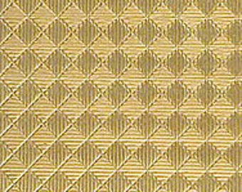 """Textured Brass Sheet 6"""" X 2.5"""" (Br67) Large Bracelet Size Texture Metal Use With Your Rolling Mill - 24 Gauge - Jewelry Metal Emboss Metal"""