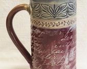 Stoneware artisan 20oz coffee mug ceramic 20C086
