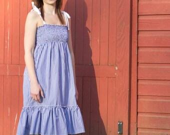 Faith's Women's Shirred Sundress PDF Sewing Pattern sizes XS-XL