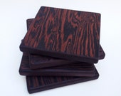 Wenge Coasters - Set of 4