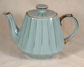 Vintage Sadler England Teapot Robin's Egg Blue