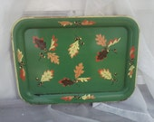 Vintage Autumn Serving Tray - Retro Autumnal Decorative Tray + Thanksgiving Decor, Mid Century Metal, Wall Art, Home Decor, Hostess Gift