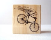 Angel on wheels Wooden Mounted Rubber Stamping Block DIY cards, scrapbooking, tags, Greeting Cards, and Scrapbooking