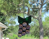 """Grapes Cluster Fan Pull  -  4"""" x 3"""" -  Bar Area Decoration"""