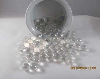 """Clear Crystal Marbles -   Mosaic Tiles/Glass/Cabochons - 1/3""""  Marbles 100ct."""