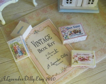 Vintage French Box Kit for Dollhouse
