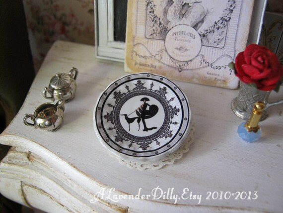 Symphony in Black Plate for Dollhouse