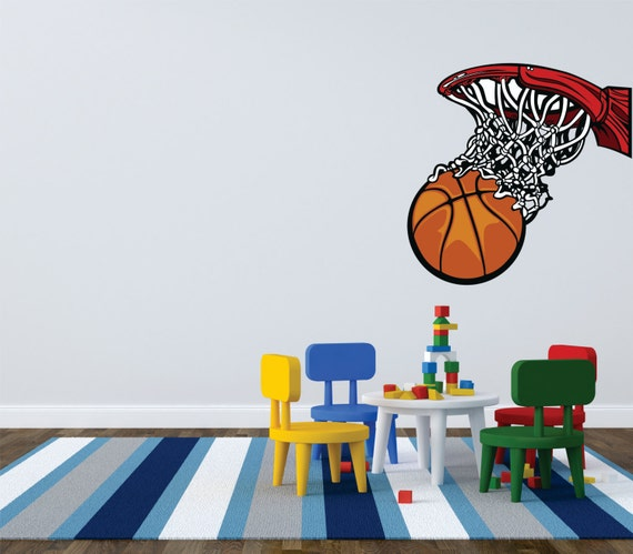 bedroom basketball hoop net sports child teen boy girl picture art