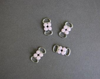 Silver Pink Dots Slide