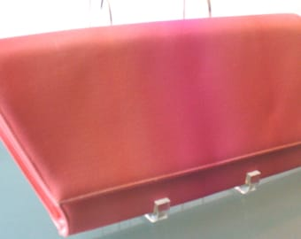 Frenchy of California Varigated Hot Pink Super Large Silk Clutch Bag