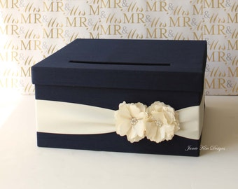 Wedding Card Box Gift Card Holder Money Box- Custom Card Box
